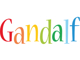 Gandalf birthday logo