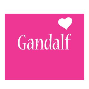 Gandalf love-heart logo