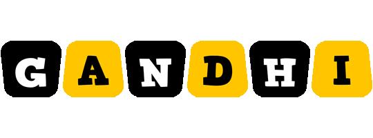 Gandhi boots logo