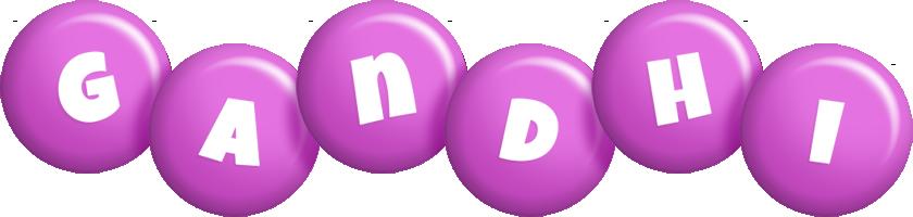 Gandhi candy-purple logo