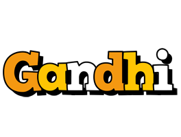 Gandhi cartoon logo