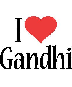Gandhi i-love logo