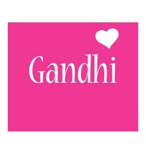 Gandhi love-heart logo