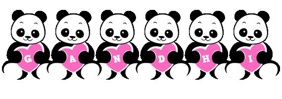 Gandhi love-panda logo