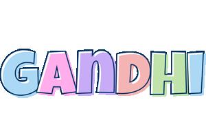 Gandhi pastel logo