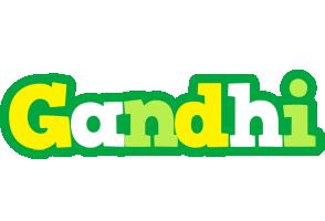 Gandhi soccer logo