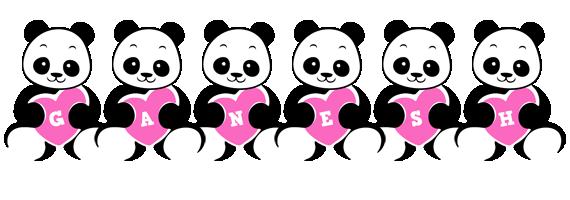 Ganesh love-panda logo