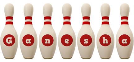 Ganesha bowling-pin logo