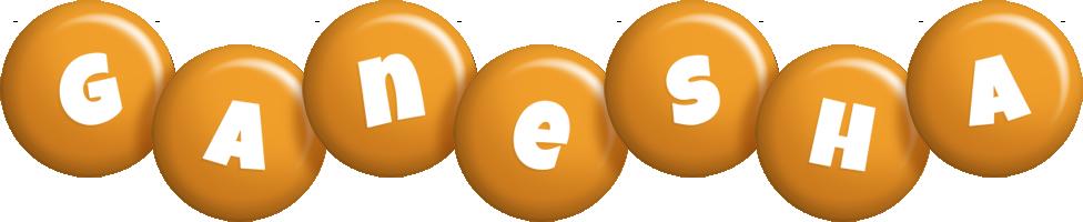 Ganesha candy-orange logo