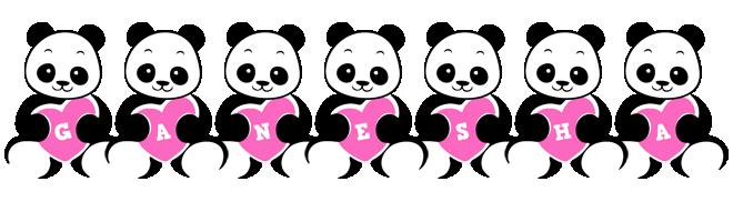 Ganesha love-panda logo