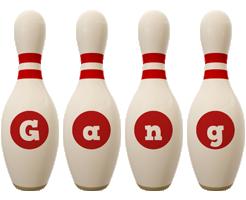 Gang bowling-pin logo