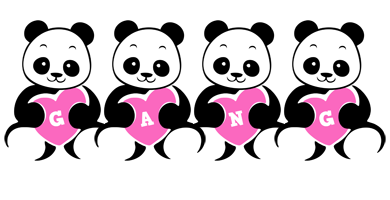 Gang love-panda logo