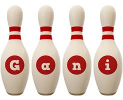 Gani bowling-pin logo