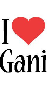 Gani i-love logo