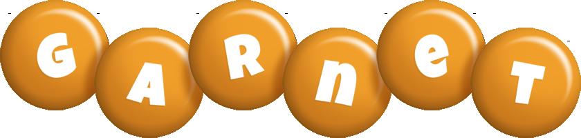 Garnet candy-orange logo