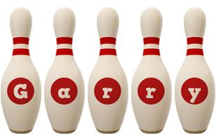 Garry bowling-pin logo