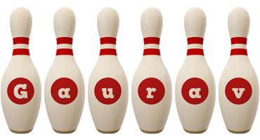 Gaurav bowling-pin logo