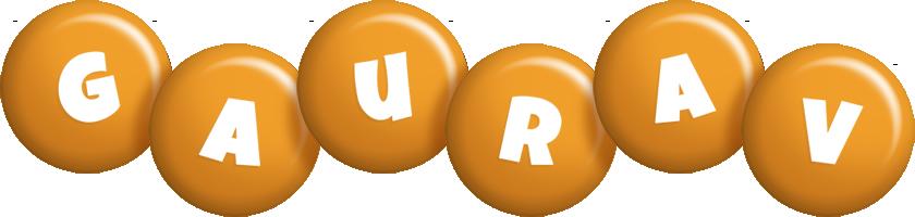 Gaurav candy-orange logo