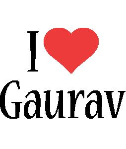 Gaurav i-love logo