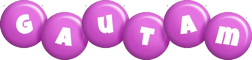Gautam candy-purple logo
