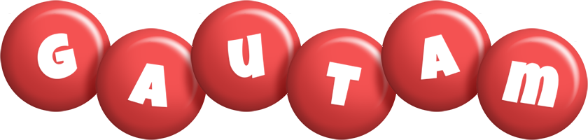 Gautam candy-red logo