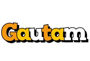 Gautam cartoon logo