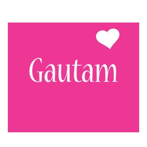 Gautam love-heart logo