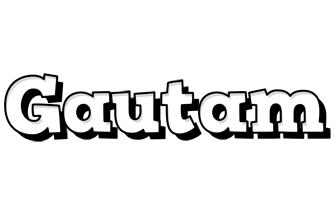 Gautam snowing logo