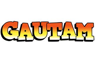 Gautam sunset logo