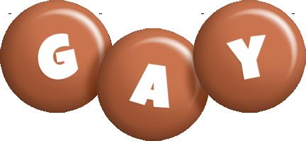 Gay candy-brown logo
