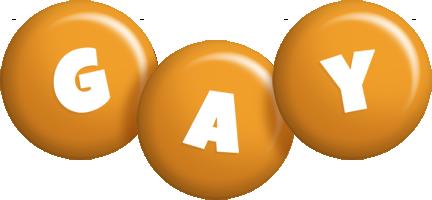 Gay candy-orange logo