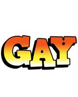 Gay sunset logo
