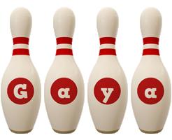 Gaya bowling-pin logo