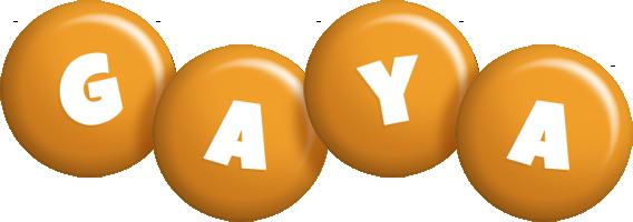 Gaya candy-orange logo