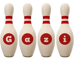 Gazi bowling-pin logo