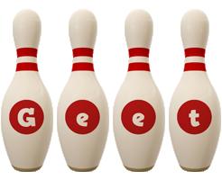 Geet bowling-pin logo