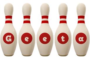 Geeta bowling-pin logo