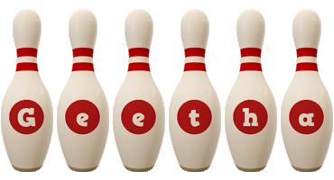 Geetha bowling-pin logo
