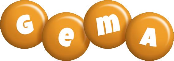 Gema candy-orange logo