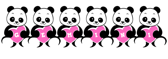 Gemini love-panda logo