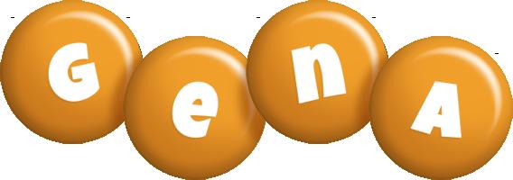 Gena candy-orange logo