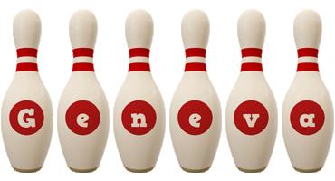 Geneva bowling-pin logo