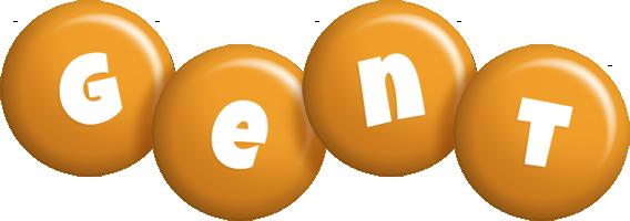Gent candy-orange logo