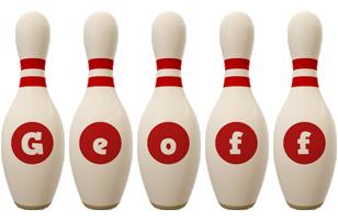 Geoff bowling-pin logo