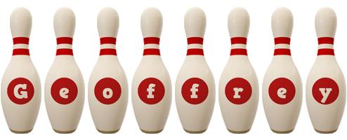 Geoffrey bowling-pin logo