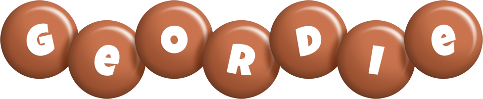 Geordie candy-brown logo