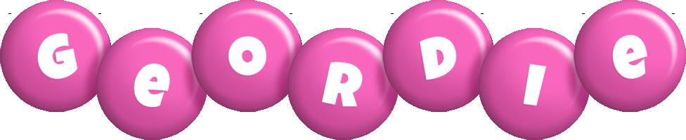 Geordie candy-pink logo