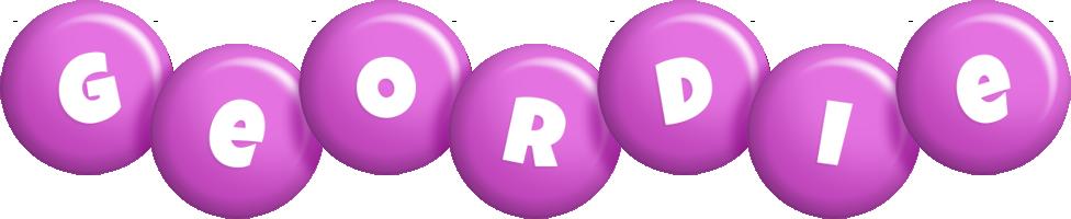 Geordie candy-purple logo