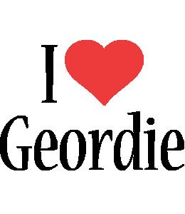 Geordie i-love logo