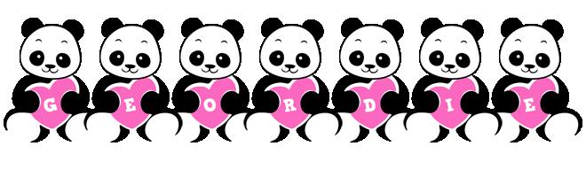 Geordie love-panda logo